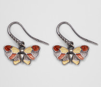 OHRRINGE AUS SILBER ANTIQUE BUTTERFLY