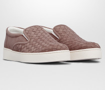 DODGER SNEAKER AUS INTRECCIATO WILDLEDER IN DESERT ROSE