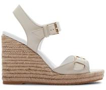Wedge-Sandalen mit Schnalle