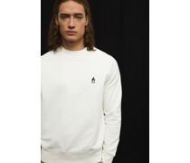 Sweatshirt mit Flammen-Stickerei
