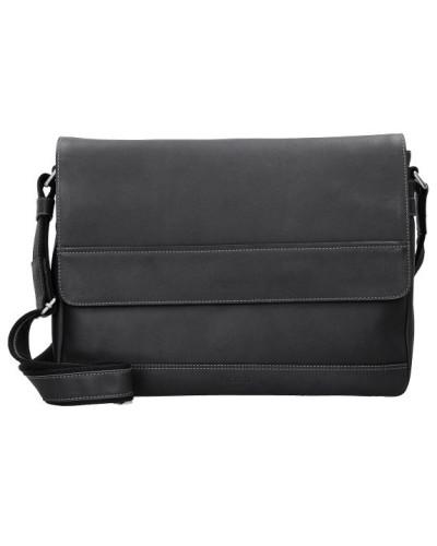 Picard Herren Do it Messengerbag Leder 37 cm schwarz