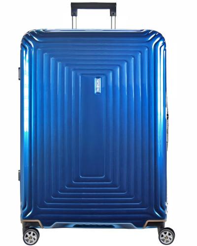 Samsonite Damen Neopulse Spinner 4-Rollen Trolley 81 cm metallic blue