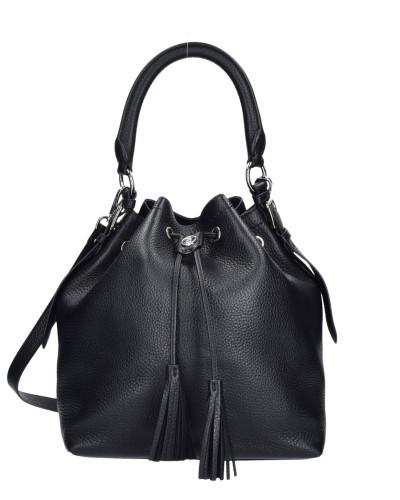 Bogner Damen Fantasy Anela Beuteltasche Leder 26 cm black