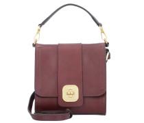 Belleville Mini Bag Handtasche Leder 19 cm bordeaux oro