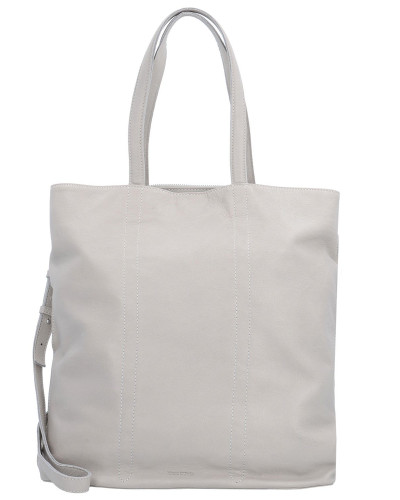Marc O'Polo Damen Seven Shopper Leder 34 cm light grey