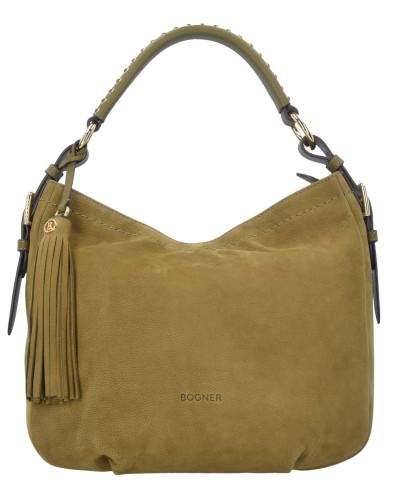Bogner Damen Chelsea Baby Aisha Shopper Tasche Leder 35 cm bronzo verde