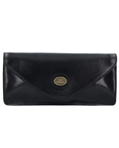 The Bridge Damen Story Donna Clutch Tasche Leder 25 cm black-gold