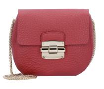 Club XS Mini Bag Umhängetasche Leder 17 cm ciliegia