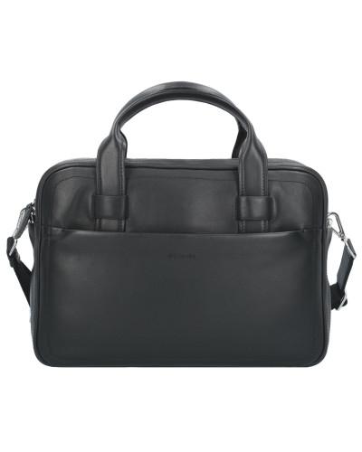 Bogner Herren Hudson Chris Aktentasche Leder 37,5 cm Laptopfach black