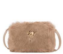 Pink faux-fur clutch FRANCINE