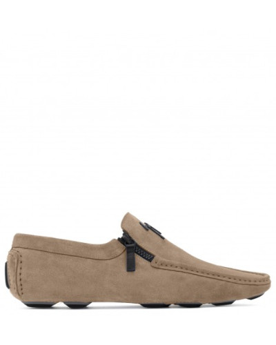 Suede loafer with signature KENT