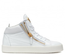 White patent leather mid-top sneaker KRISS