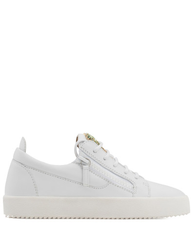 Leather low-top sneaker with crystals palm VENICE BEACH