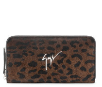 Leopard calf hair wallet PAULA