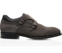 Business Casual GY Velours Double Monk