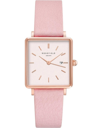 Damenuhr The Boxy White Pink Rosegold...