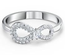 Infinity Ring, weiss, rhodiniert, Grö...