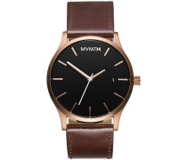 MVMT Herrenuhr Classic Rose Gold Brown MM01-RG...