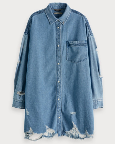 Denim-Shirt im Used Look