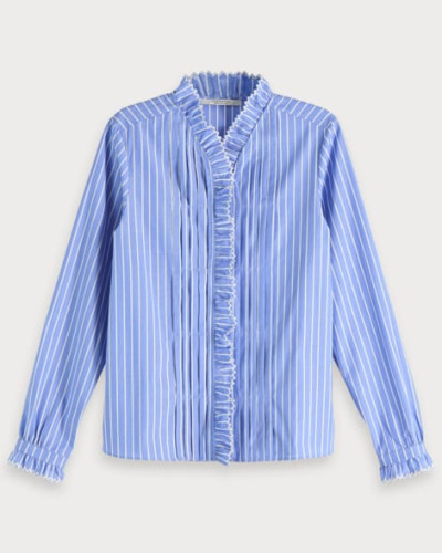 Striped Ruffle Shirt