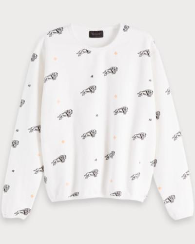 Sweatshirt mit Artwork Print