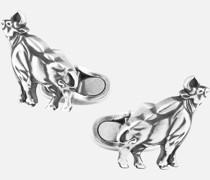 Zodiac Sign Manschettenknöpfe Aus Silber In Ochsenform