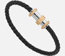 1858 Geosphere Armband Aus Leder Und Edelstahl