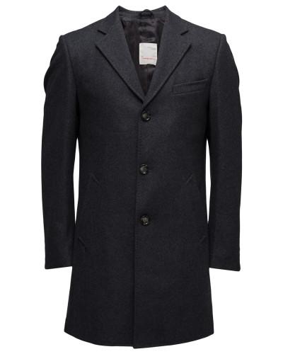 Wool Coat - Grs Wollmantel Mantel Schwarz