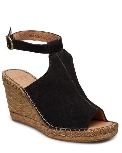Wayfarer High Wedge Sandale Mit Absatz Espadrilles Schwarz ROYAL REPUBLIQ