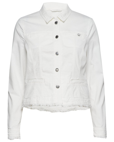 Jacket Jeans Woven Jeansjacke Denimjacke Weiß GERRY WEBER