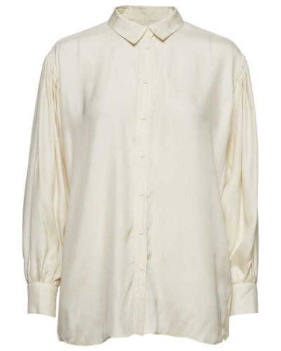 Iw50 04 Hutton Shirt Bluse Langärmlig Creme