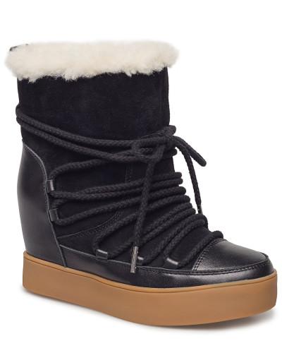 Trish Wool Boots Knöchelhohe Stiefel Schwarz