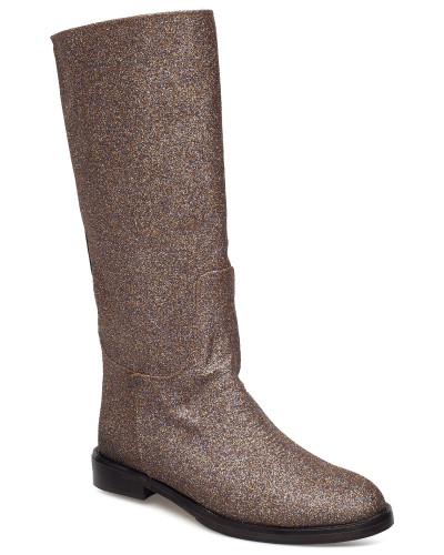 Kasia, 455 Glitter Shoes Hohe Stiefel Grau