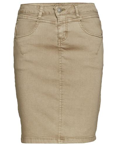 Amalie Skirt - Knee Lgd. Kurzes Kleid Beige CREAM