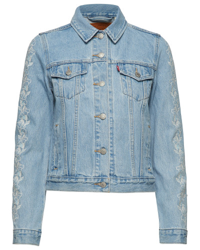 Original Trucker Needlecraft T Jeansjacke Denimjacke Blau