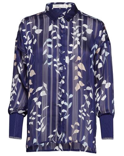 Hollis Blouse Bluse Langärmlig Blau INWEAR