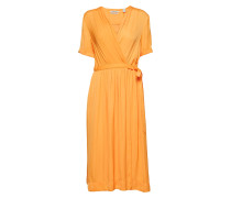 Midi Length Wrapover Dress Kleid Knielang Orange SCOTCH & SODA