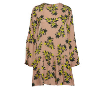 Tilly Dress Sand Flower Kurzes Kleid Gelb TWIST & TANGO