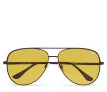 Sahara Pilotensonnenbrille Sonnenbrille Gelb QUAY AUSTRALIA