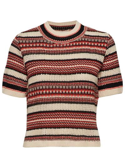 Illisaiw Pullover Tshirts & Tops Knitted T-Hemd/tops Bunt/gemustert