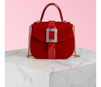 Micro-Tasche Beau Vivier Strass Buckle