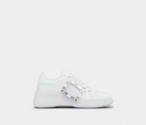 Sneakers Viv' Skate mit Strass-Schnalle aus Nappaleder