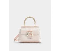Mini Tasche Viv' Cabas mit Flower Strass Jewel Schnalle aus Samt