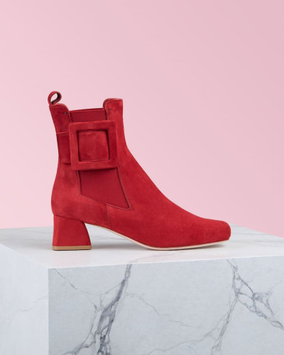 Ankle Boots Chelsea Très Vivier Covered Buckle