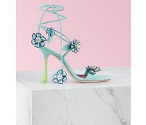 Sandalen Vivier Blossom aus Veloursleder