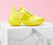 Sneakers Viv' Run mit Strass Schnalle aus technischem Gewebe