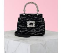 Mini Cabas Tasche Viv' Jewel mit Flower Strass-Schnalle aus Stoff