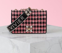 Tasche Miss Vivier mit Strass-Schnalle aus Stoff