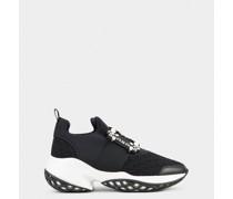 Sneakers Viv' Run mit Strass-Schnalle aus technischem Gewebe