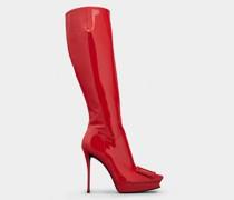 Stiefel Platform Vivier Choc aus Lackleder mit bezogener Schnalle